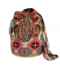 Guayaba Colors Hexagonal Flower Wayuu Pattern Bag