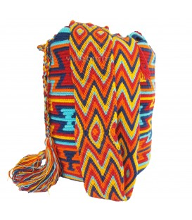 Multicolor Abstract Triangular Wayuu Pattern Bag