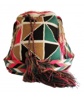 Guayaba Colors Abstract Wayuu Pattern Mochila Bag