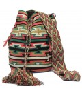 Guayaba Colors Complex Triangular Wayuu Pattern Bag