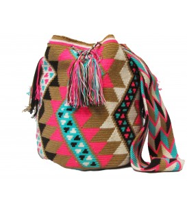 Guayaba Colors Complex Mingled Wayuu Pattern Bag