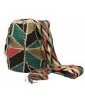 Guayaba Colors Complex Flower Wayuu Pattern Bag