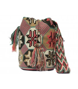 Guayaba Colors Flower Wayuu Pattern Bag