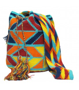 Multicolor Colorful Rhombus Wayuu Pattern Bag