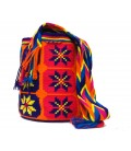 Purple/Yellow/Blue/Orange Multicolor Complex Flower Wayuu Pattern Bag