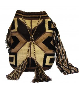 Earth Colors Multicolor Abstract Wayuu Pattern Bag