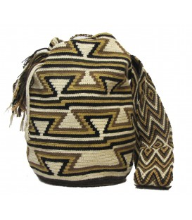 Earth Colors Multicolor Triangular Abstract Wayuu Pattern Bag