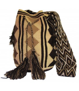 Earth Colors Multicolor Complex Rhombus Wayuu Pattern Bag