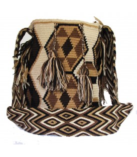 Earth Colors Multicolor Poligon Wayuu Pattern Bag
