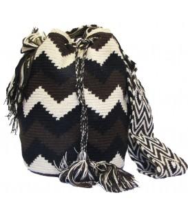 Arhuaco Multicolor Zigzag Wayuu Pattern Bag