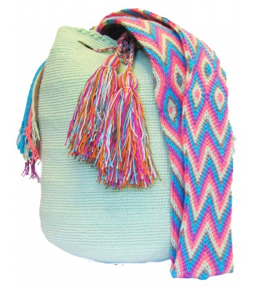 Light Green Wayuu Cotton Shoulderbag