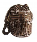 Earth Colors Multicolor Triangular Wayuu Pattern Bag