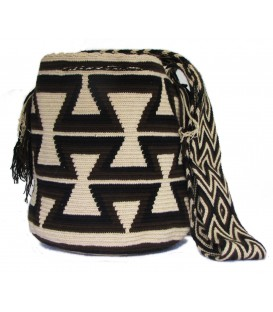 Arhuaco Multicolor Thick Triangular Wayuu Pattern Bag