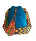 Light Blue Wayuu Pattern Bags