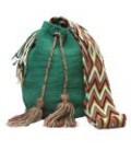Shamrock Green Wayuu Patterns Bag