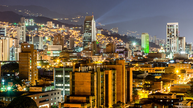 Medellin at night- Photo Taken By https://www.flickr.com/photos/133260975@N07/