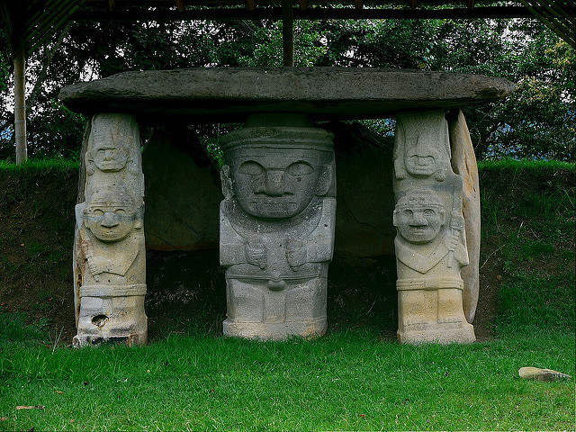 San Agustin Stone Statues-https://www.flickr.com/photos/travelart/7147019859/